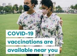 COVID-19 vaccinations at school pop-up clinic