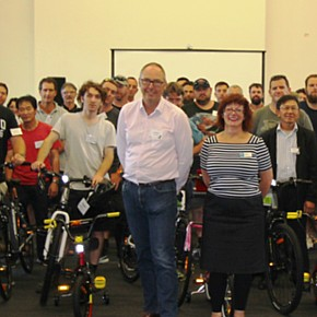 Ecodyamics team build bikes for young people
