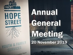 Hope Street Annual General Meeting.