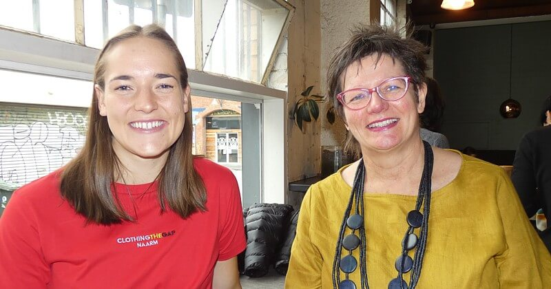 Left to right: Izzy Huntington with Hope Street CEO, Donna Bennett.