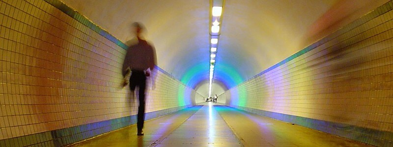 Walking down a tunnel.  Image courtesy pixabay.com